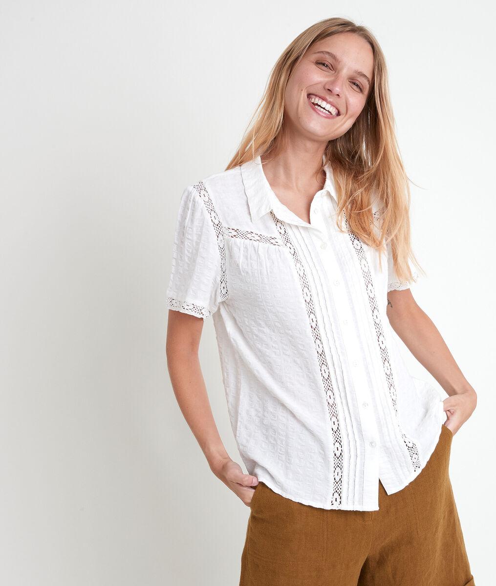 Tilane ecru lace blouse PhotoZ | 1-2-3