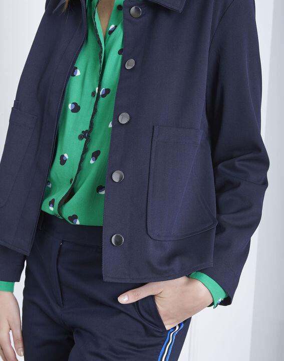 Felicia navy short jacket (3) - Maison 123