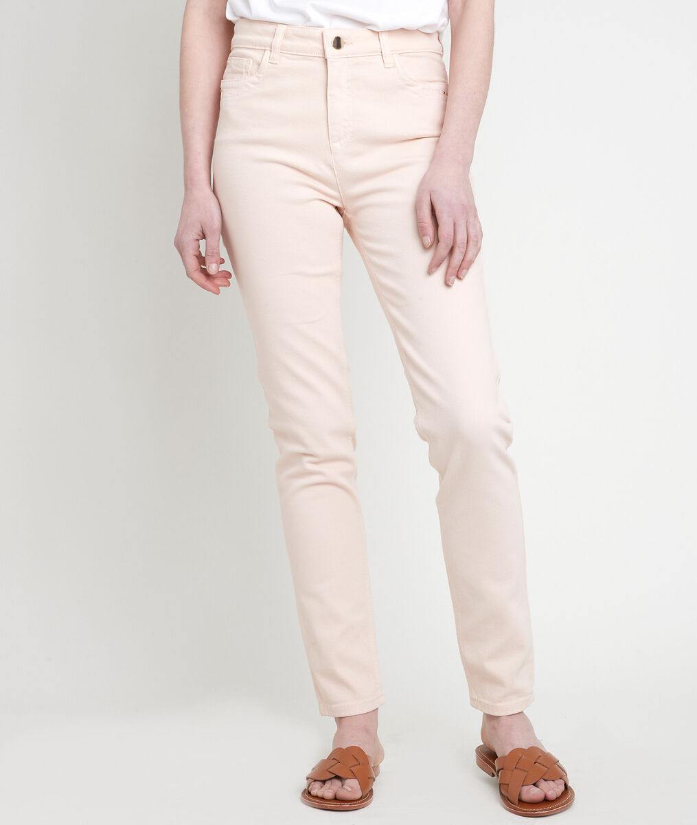 The iconic SUZY slim-fit jeans in peach-coloured recycled cotton PhotoZ | 1-2-3