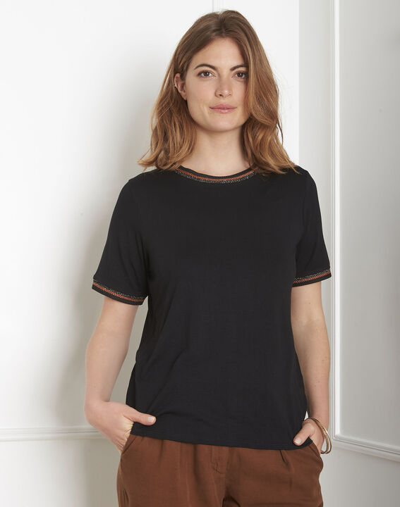 Proove black T-shirt with ribbon details PhotoZ | 1-2-3
