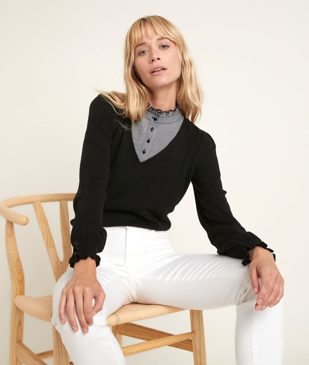 Reverso pullover with decorative collar PhotoZ | 1-2-3