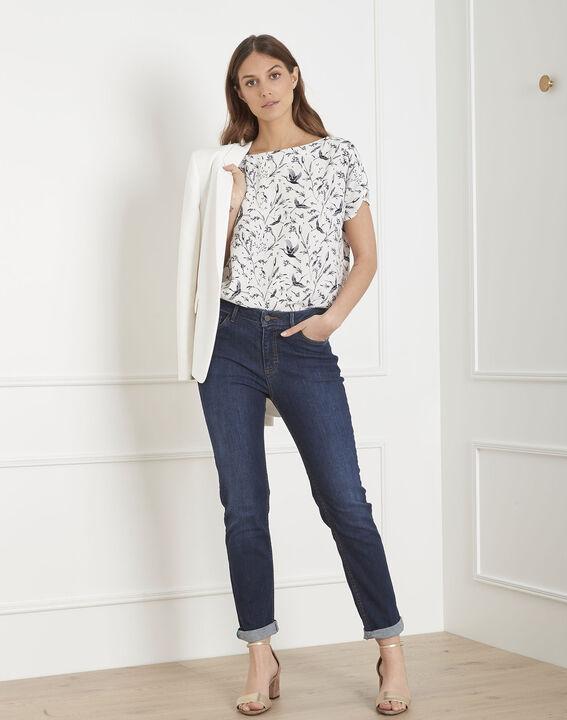 Virgile ecru floral print blouse PhotoZ | 1-2-3