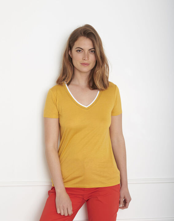 Passo yellow ribbed T-shirt PhotoZ | 1-2-3