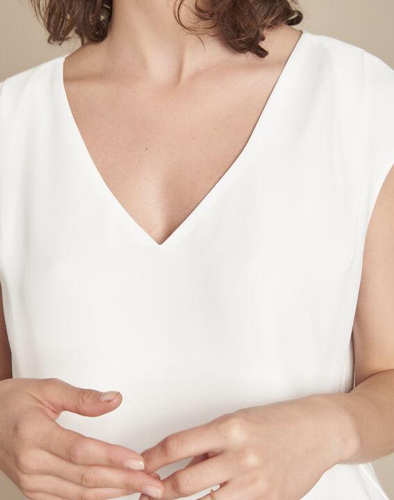 Neptune V-neck beige blouse (3) - Maison 123