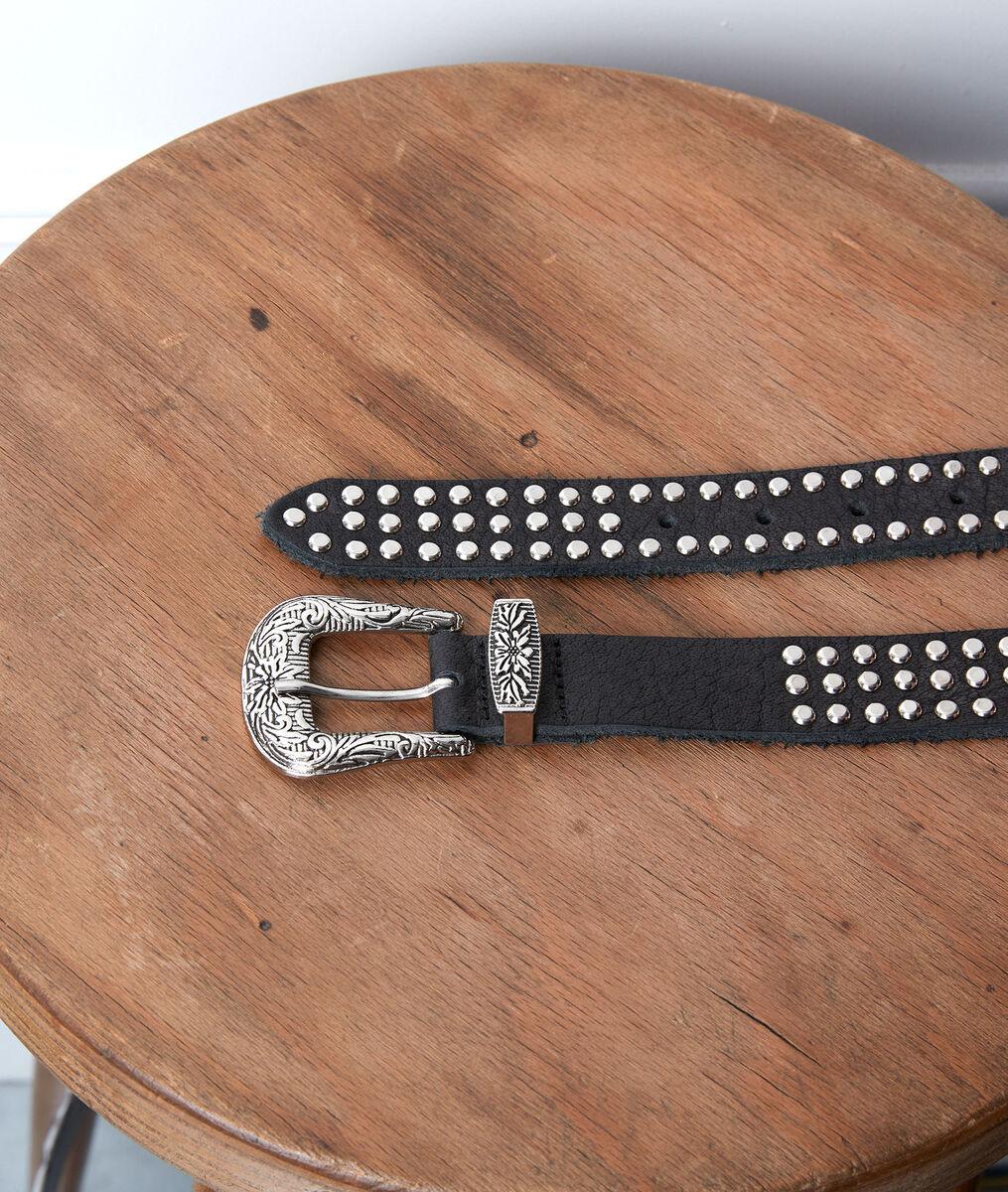 SHARLEEN black studded belt PhotoZ | 1-2-3