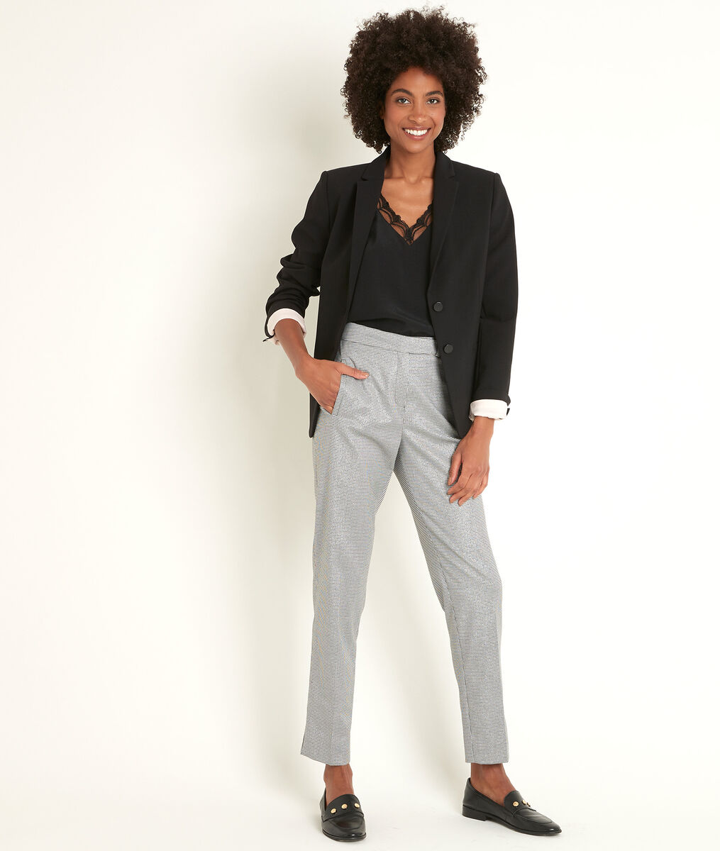 Lara cigarette trousers with houndstooth pattern PhotoZ | 1-2-3