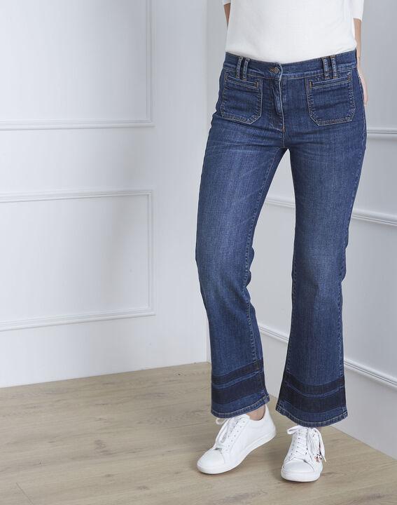 Chicago short flared indigo jeans PhotoZ | 1-2-3