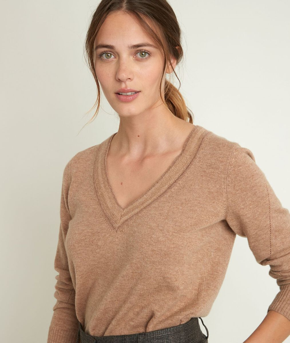 Rozane Havana wool and cashmere pullover PhotoZ | 1-2-3