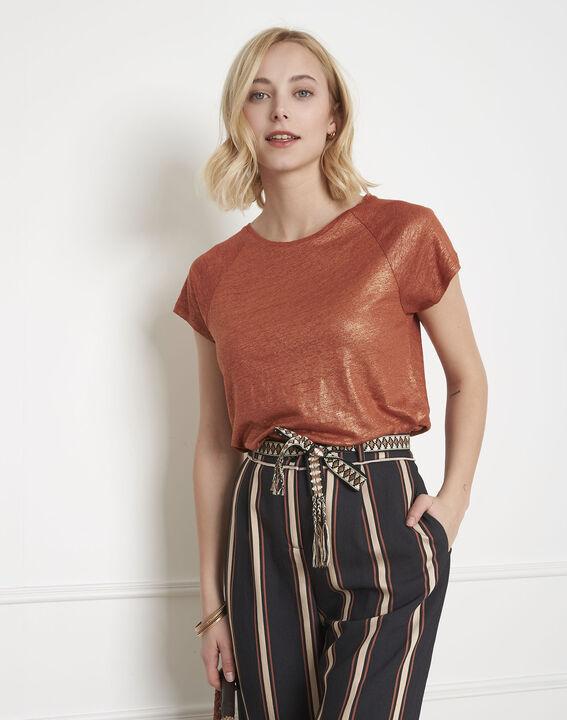 Pipper shiny mahogany T-shirt (1) - Maison 123