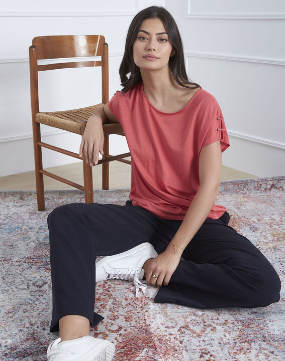 Palmbeach pink T-shirt with shoulder detailing (1) - Maison 123