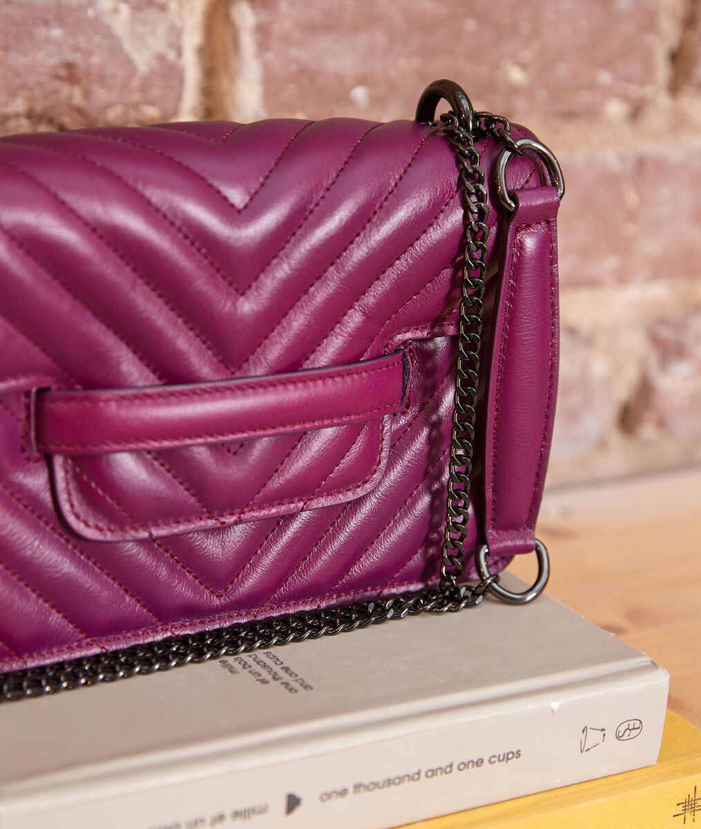 123 small quilted bag in fuchsia PhotoZ   1-2-3