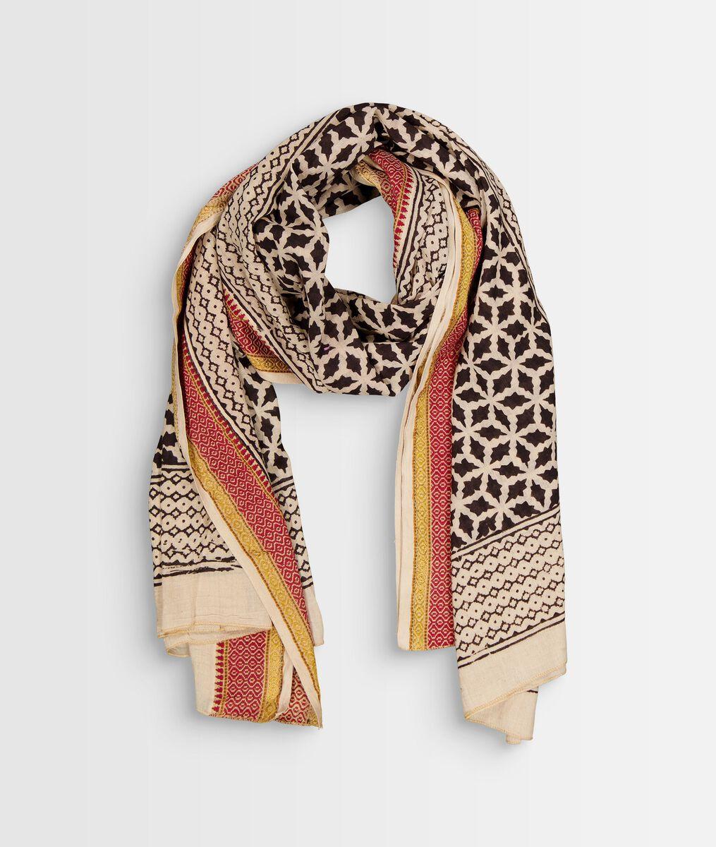 Bolt printed cotton scarf  PhotoZ | 1-2-3