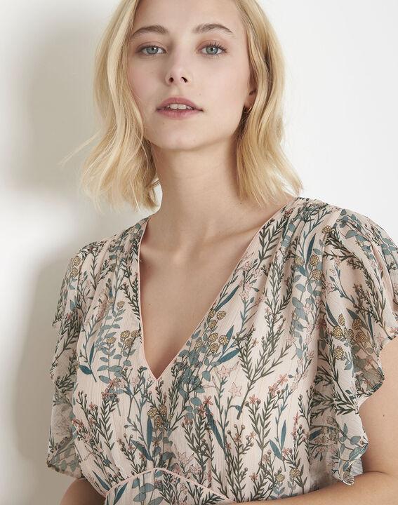 Ludo ecru floral print dress (3) - Maison 123