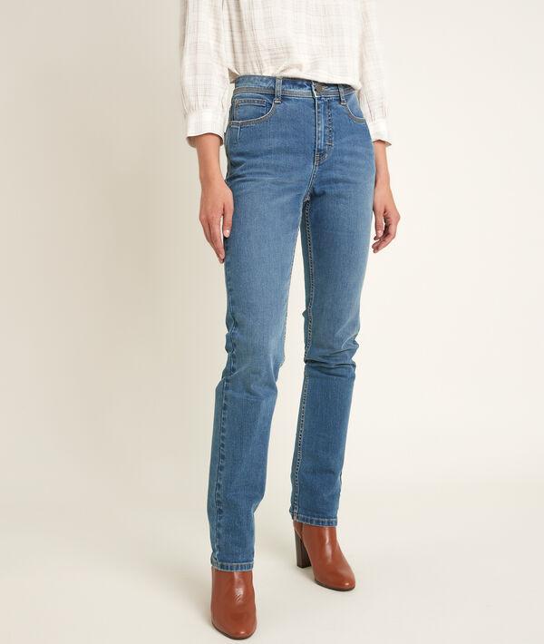 Sonia, the original 123 stone used straight-leg jeans  PhotoZ | 1-2-3