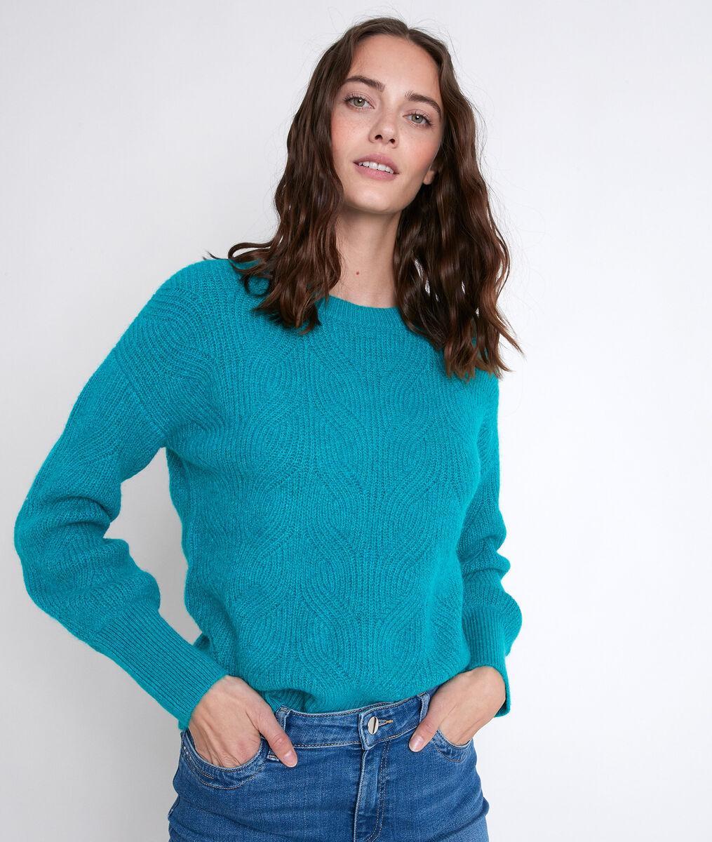 ALEKA turquoise wool-blend jumper PhotoZ | 1-2-3