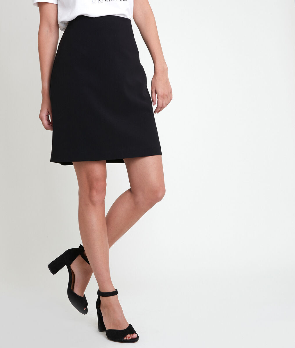 Bossa black microfibre skirt PhotoZ | 1-2-3