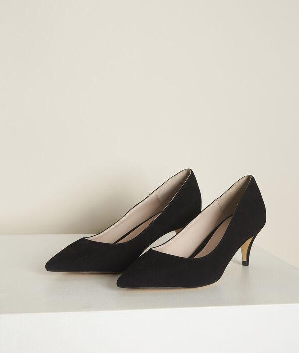 Lili black leather high heels PhotoZ | 1-2-3