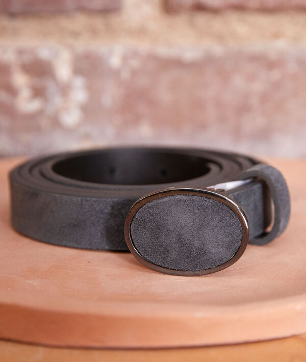Evane slate-grey suede belt PhotoZ | 1-2-3