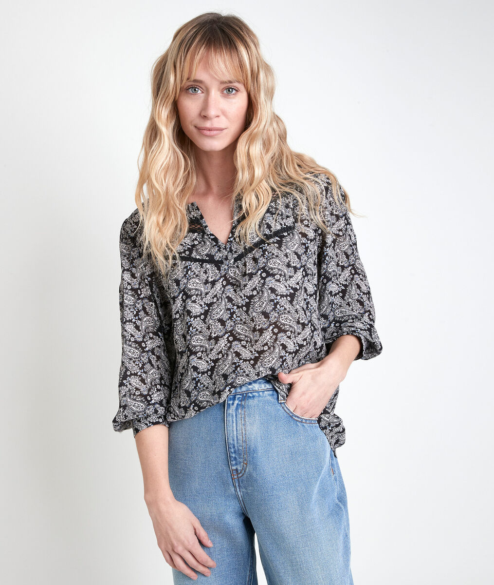 JUAN printed blouse PhotoZ | 1-2-3