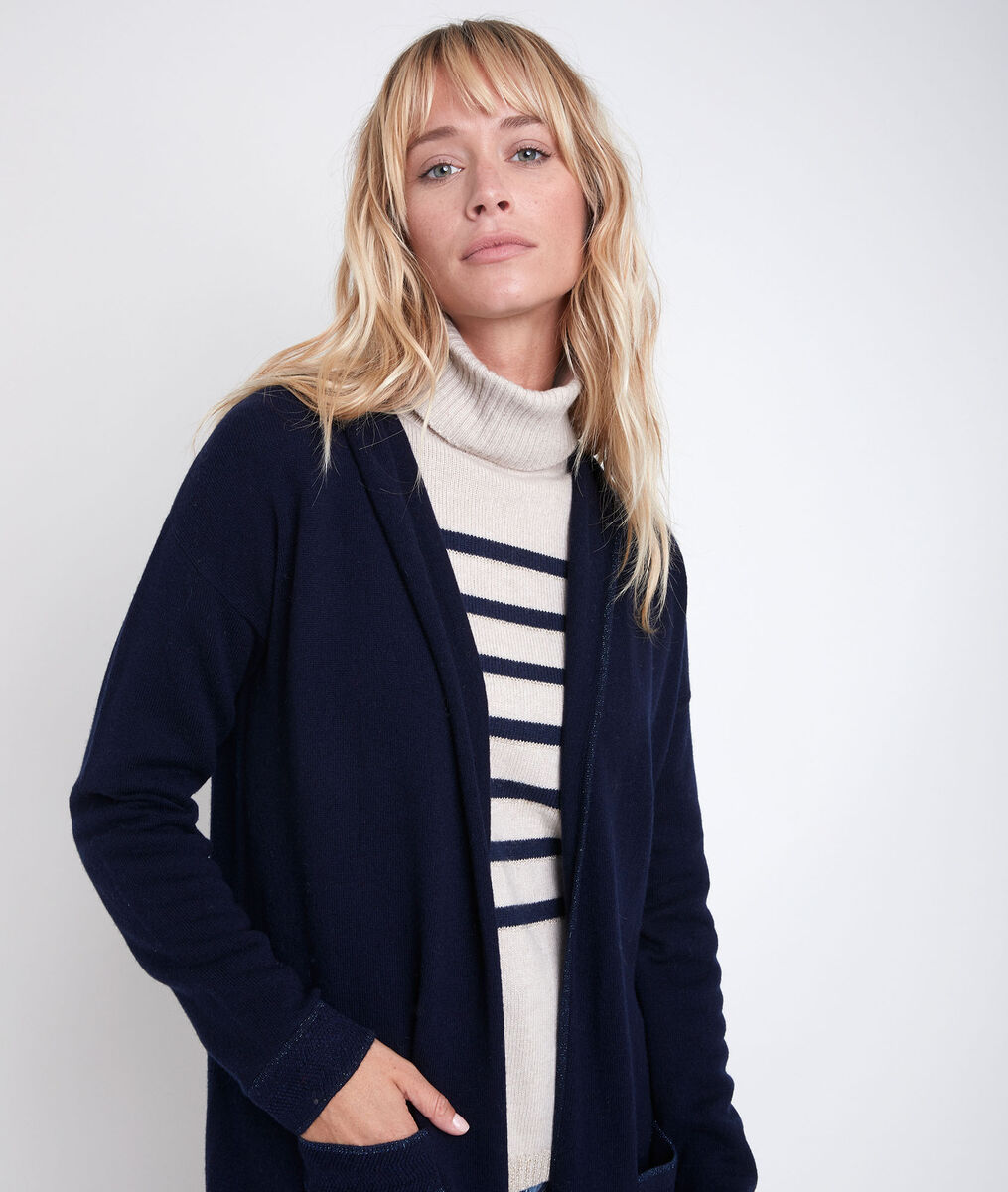 Ruth long wool and cashmere cardigan PhotoZ | 1-2-3