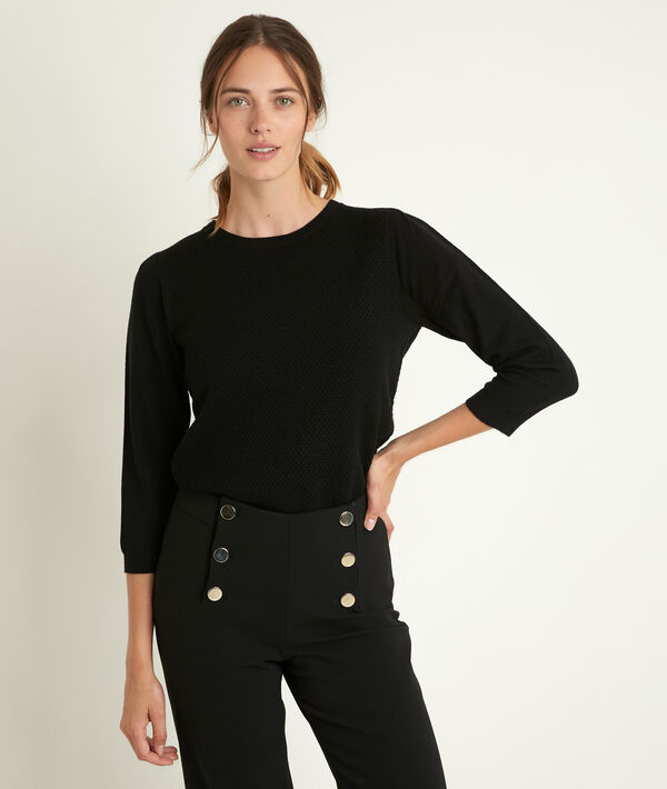 Rimel black honeycomb pullover PhotoZ | 1-2-3