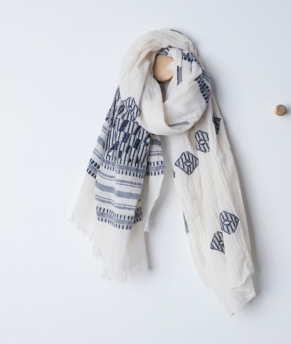 Brandy printed fringed scarf PhotoZ | 1-2-3