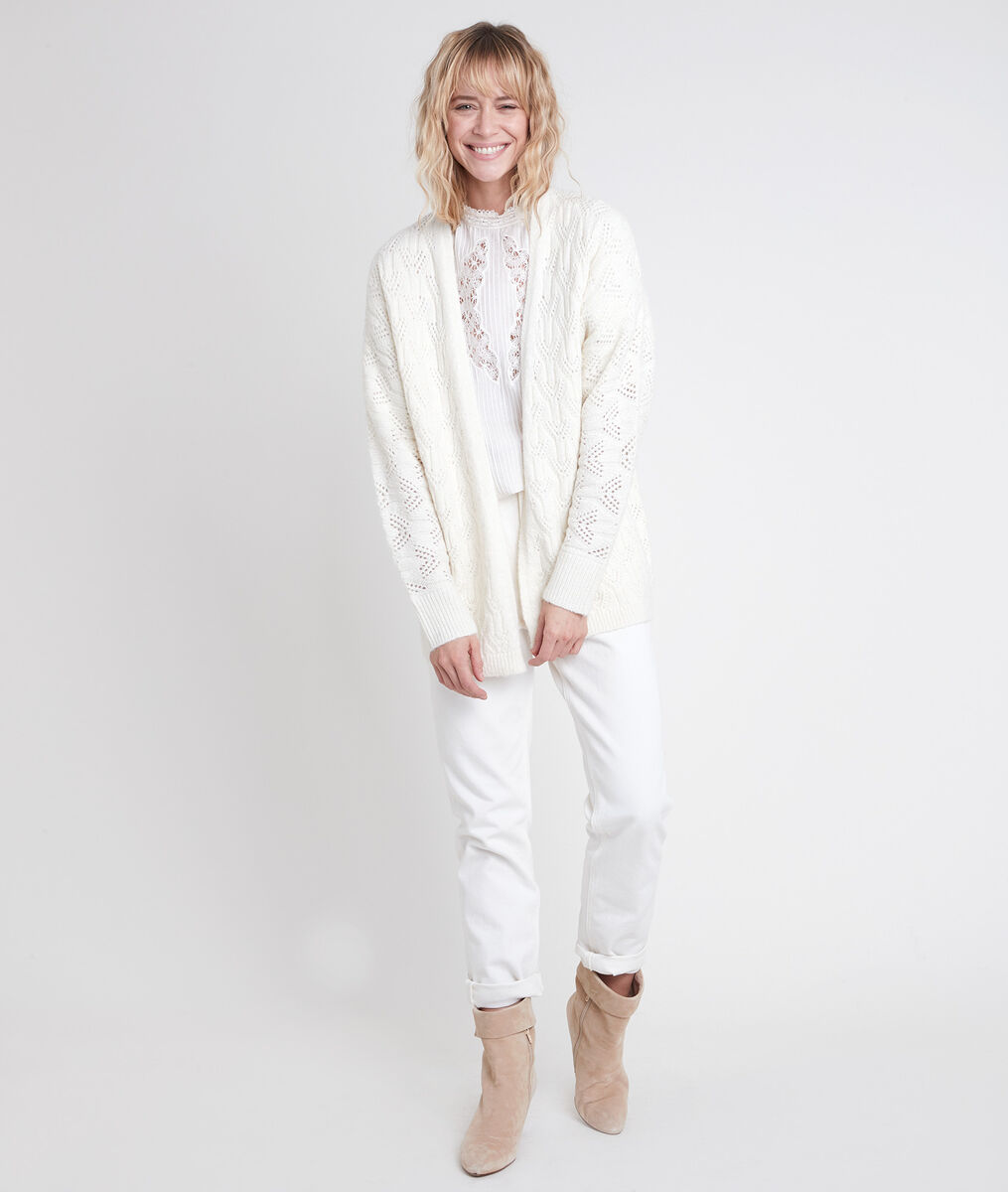 ALESIA cream alpaca blend cardigan PhotoZ   1-2-3