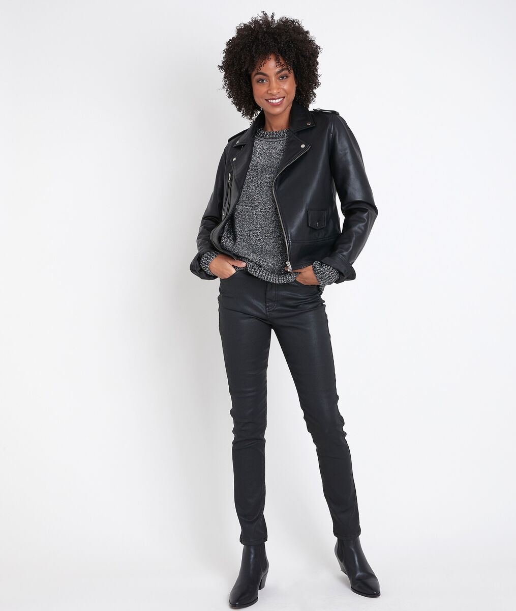 TOMMY black leather jacket PhotoZ | 1-2-3