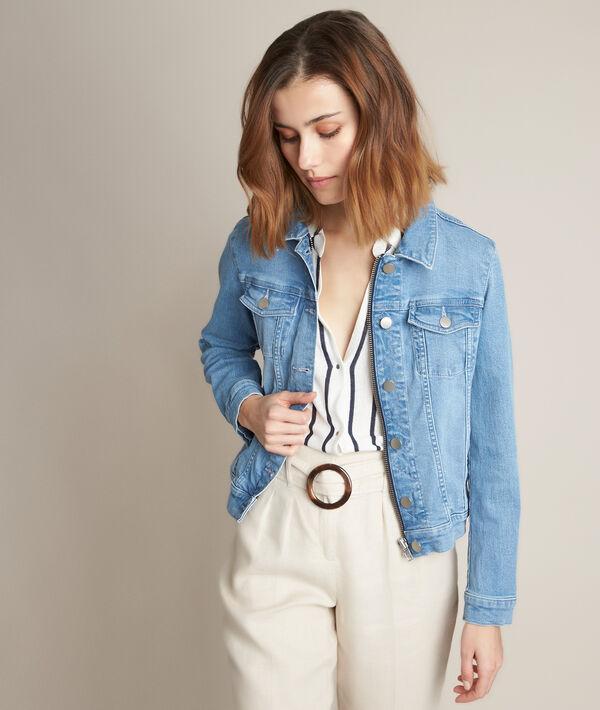 Clem pure bleached denim jacket PhotoZ | 1-2-3
