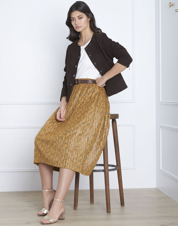 Thea brown suede jacket (2) - Maison 123