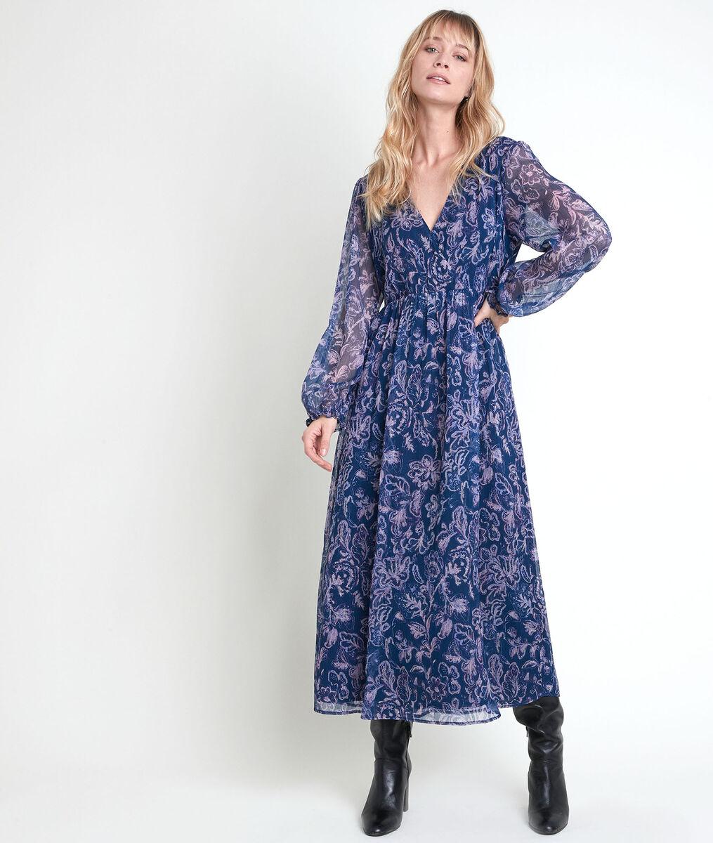 Louise blue print maxi dress PhotoZ | 1-2-3