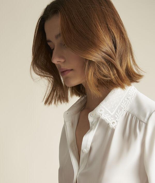 Elina shirt with decorative collar PhotoZ | 1-2-3