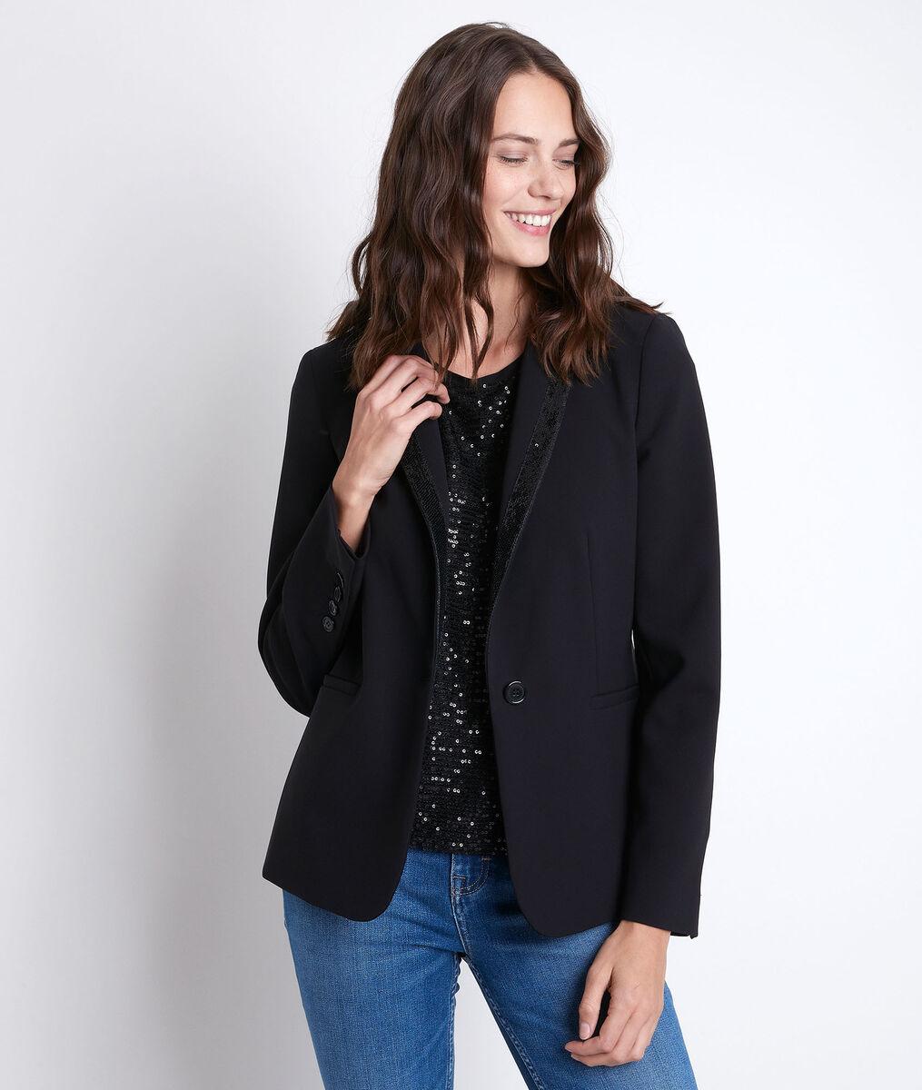 Tilena sequin microfibre jacket PhotoZ | 1-2-3