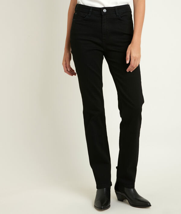 The Original 123: the Sonia black straight-leg jeans  PhotoZ   1-2-3