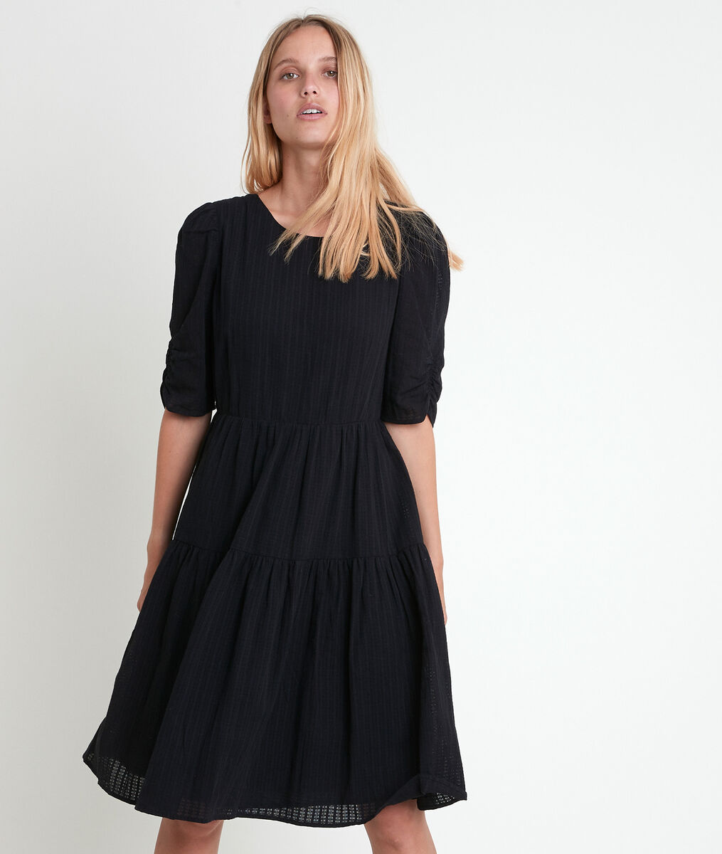 Lorene swishy black dress PhotoZ   1-2-3
