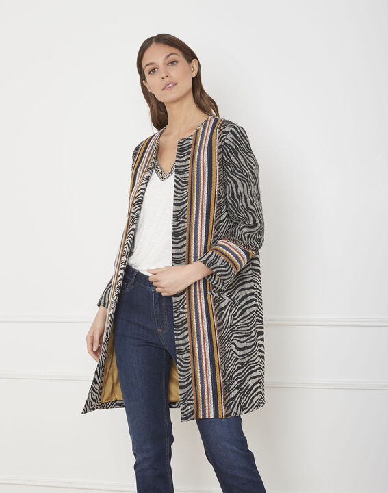 Falco ethnic print jacquard coat PhotoZ | 1-2-3