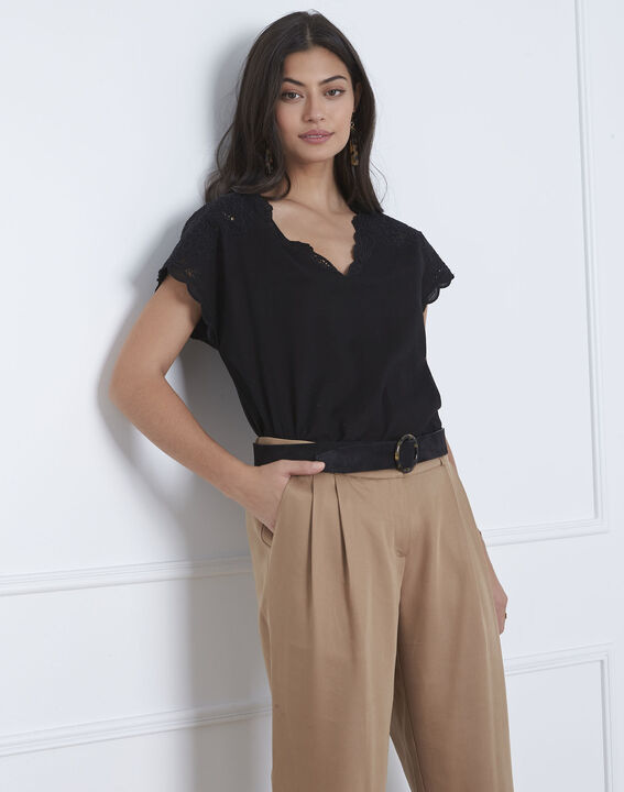 Volage black embroidered blouse PhotoZ | 1-2-3