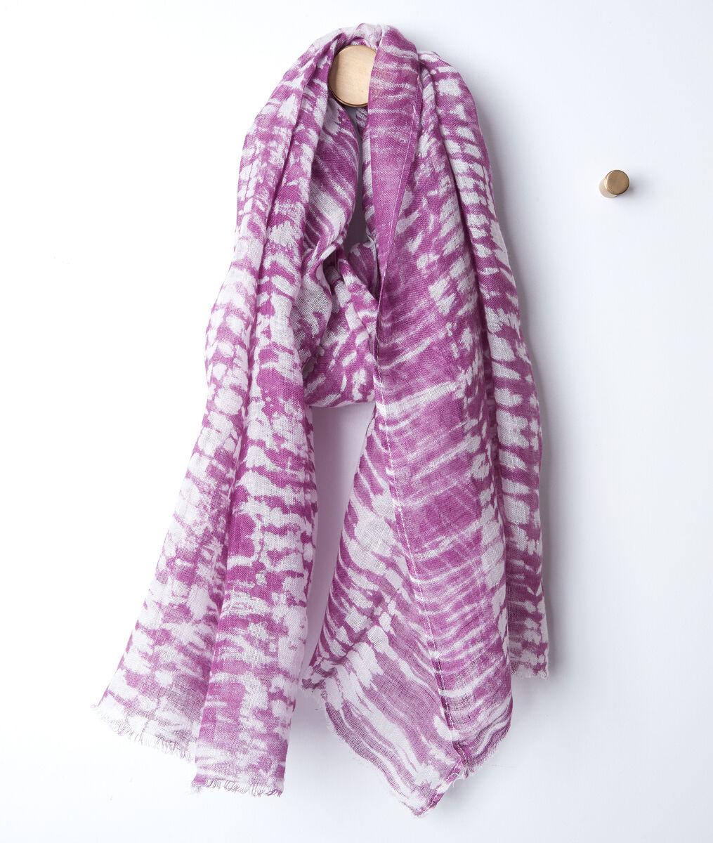 Brad tie-dye linen scarf PhotoZ | 1-2-3