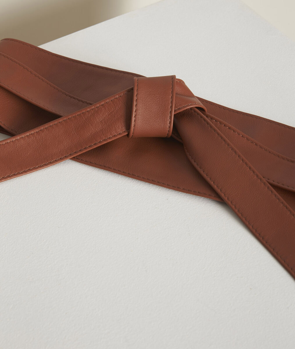 Raul camel-coloured leather tie belt PhotoZ | 1-2-3