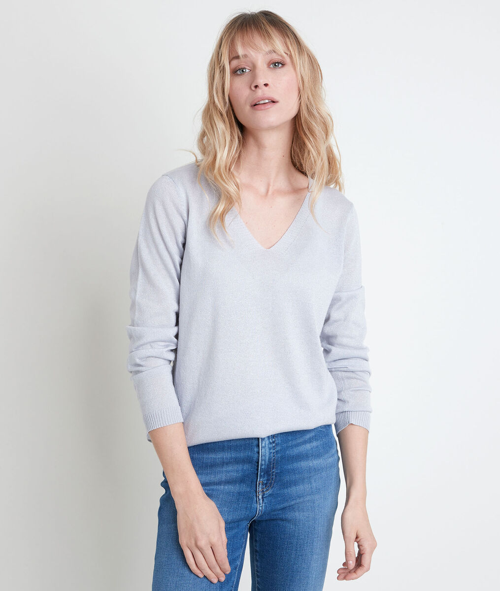 Ryo sparkly silver lightweight pullover PhotoZ | 1-2-3