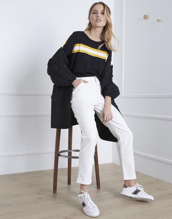 Coconut off-white 7/8 length boyfriend jeans (5) - Maison 123