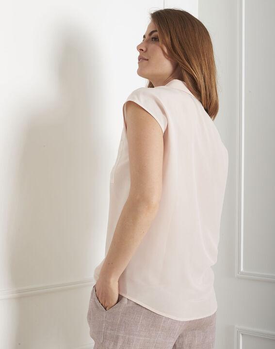 Veziane powder pink silk blouse (3) - Maison 123