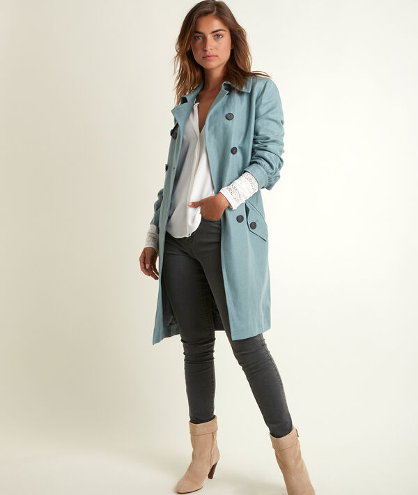Sadao linen and cotton trench coat PhotoZ | 1-2-3
