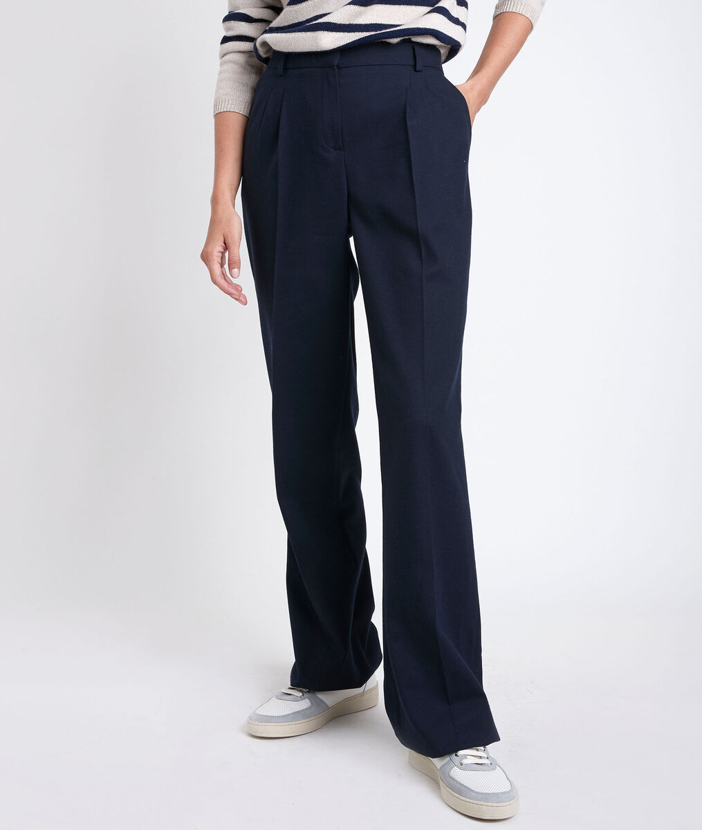 Marcel navy wide-legged trousers PhotoZ | 1-2-3