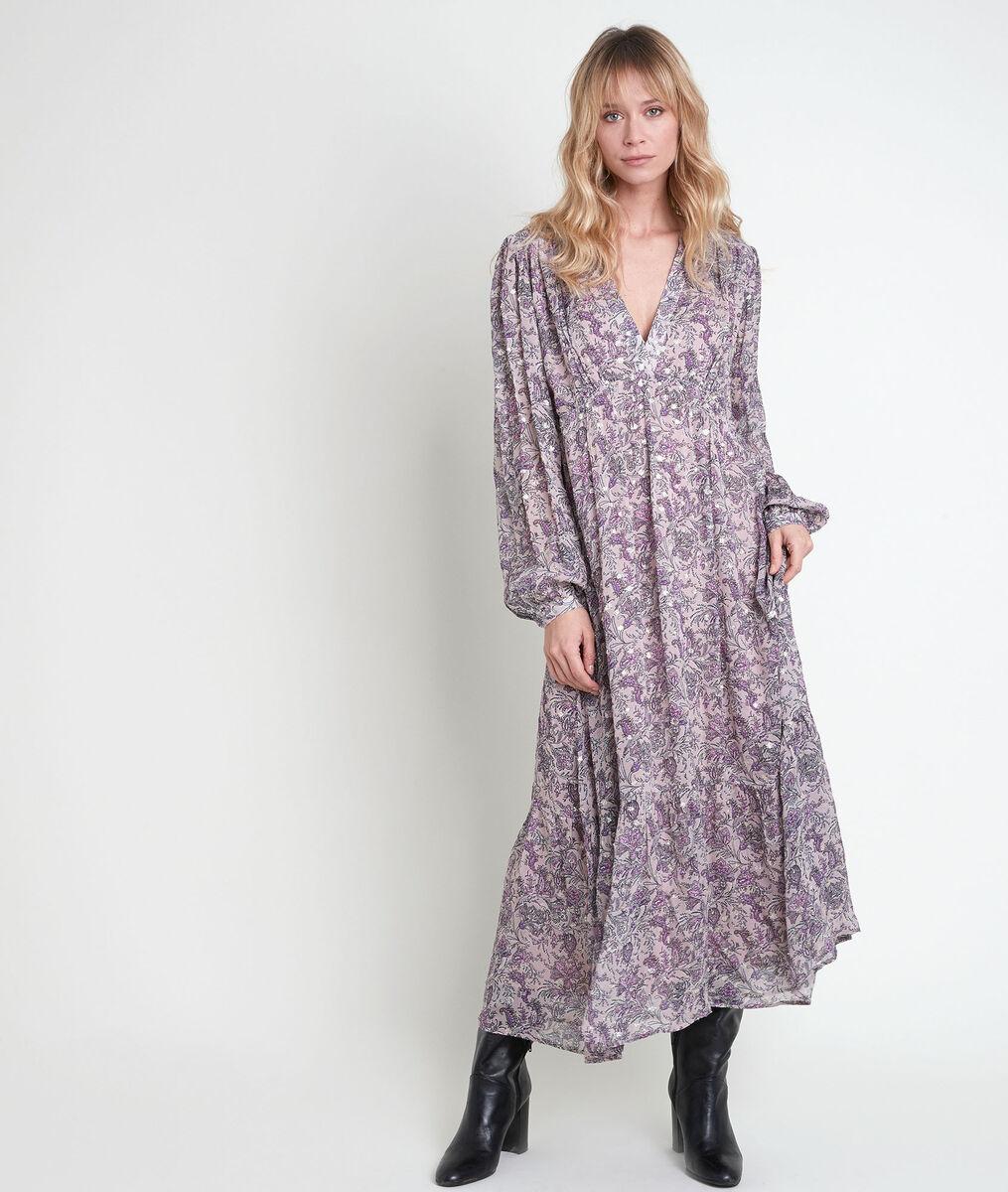 Ingrid mauve floral print dress PhotoZ | 1-2-3