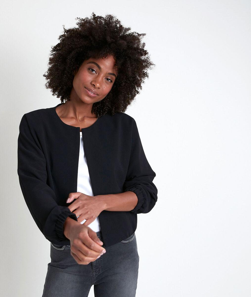 TAYA black crepe jacket PhotoZ | 1-2-3