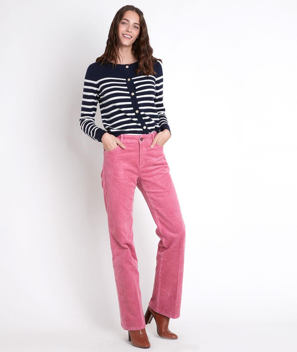 FIDJI pink velvet wide-leg trousers PhotoZ | 1-2-3