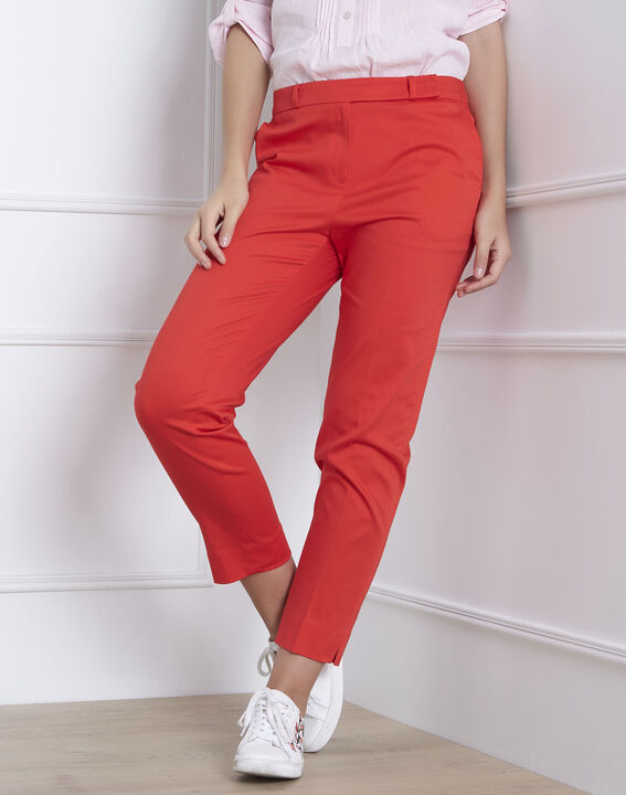 Rubis coral cigarette trousers PhotoZ | 1-2-3