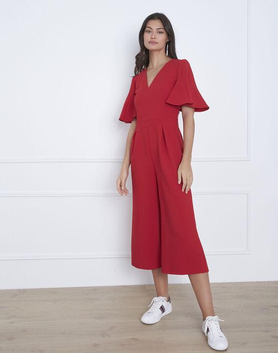 Havana red cropped jumpsuit PhotoZ   1-2-3