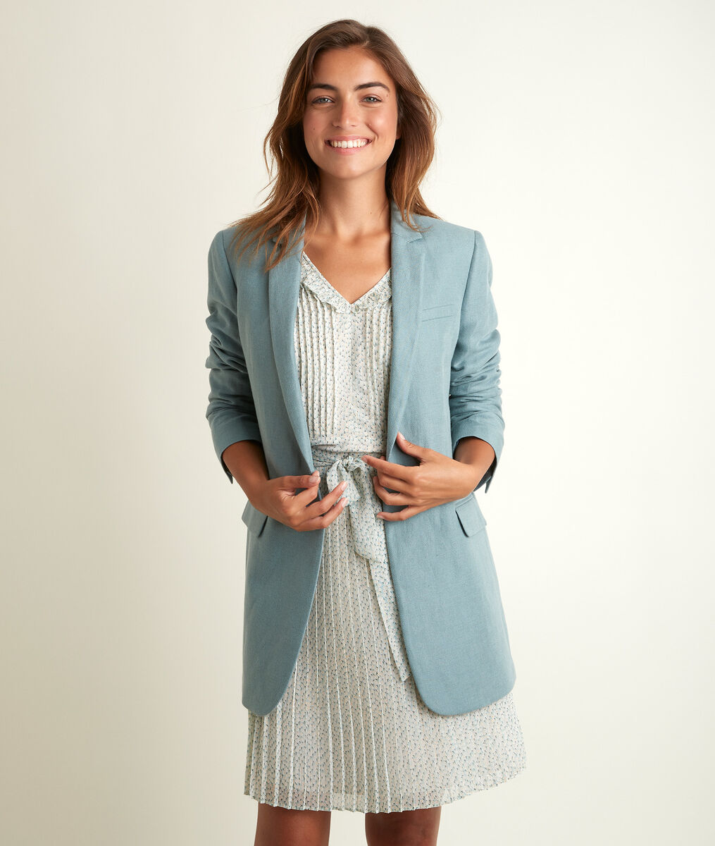 Tamara long linen and cotton jacket PhotoZ | 1-2-3